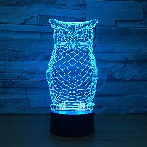 Spezial Stimmungsbeleuchtung Märchen Tier Nachtlicht 3D Phantomlicht Mit 7 Farben Variablen Nachtlicht Beste Geschenk-Y_Schwarzer Hintergrund