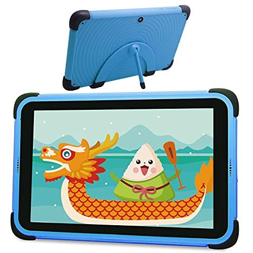 Tablet Niños de 8 Pulgadas, Android 11 Tablet 3GB RAM Niños con ROM de 32GB, 1920 * 1200 FHD Display Quad-Core Android 11 WiFi, Tabletas de Aprendizaje con Soporte de Estuche a Prueba de niños (Blue)