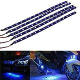 Mintice™ 5 X bleu 12V 15 Led véhicule automobile calandre 30cm de voiture bande de lumière...