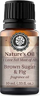 Brown Sugar & Fig Fragrance Oil 10ml for Autumn Diffuser Oils, Making Soap, Candles, Lotion, Home Scents, Linen Spray and Lotion