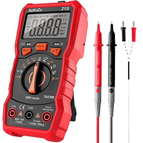 Multimetro Digitale Automatico,AoKoZo 21S 6000Conti Tester Digitale,TRMS(147*71*45 mm)