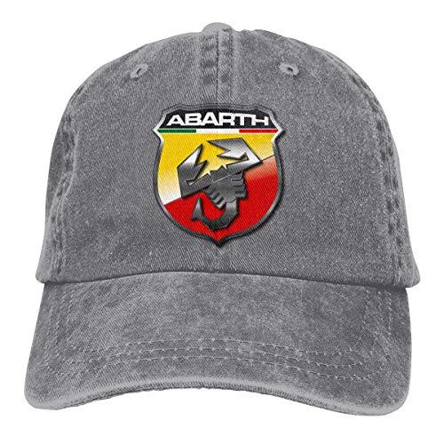 Jhonangel Personalizado Abarth Automobile Logo Gorra de béisbol Vintage Dad Hat Ajustable Polo Trucker Unisex Style Headwear