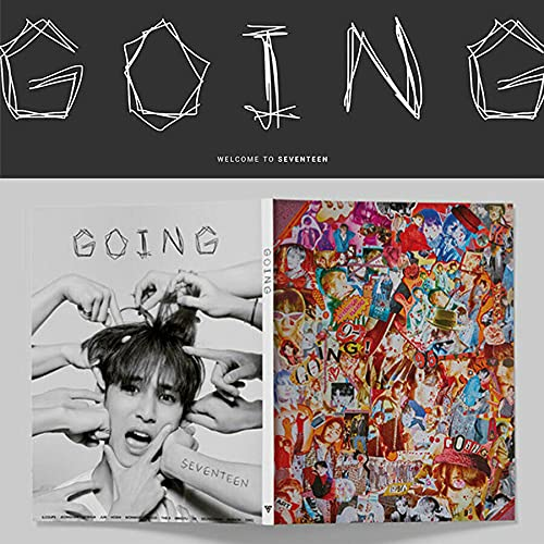 SEVENTEEN [GOING] Magazine PHOTO BOOK_128 page Magazine(Photo Book)+1ea Photo Card Set(1set 13ea) K-POP SEALED+TRACKING NUMBER