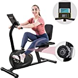 Recumbent Exercise Bike for Adults Seniors -TIMOSS 8 Levels Magnetic Resistance Indoor Cycling Fitness Equipment for Home Workout, Bluetooth Monitor with Free APP, Easy Adjustable Seat, 380lb Weight Capacity