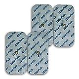"""StimPads Electrodos para Compex*, envase con 4 electrodos 50x100mm de """"UN Snap""""...."""