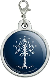 GRAPHICS & MORE Lord of The Rings Tree of Gondor Chrome Plated Metal Pet Dog Cat ID Tag