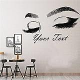 Extensión de pestañas salón de belleza decoración pegatina maquillaje habitación pared arte cosméticos belleza cartel artístico A3 92x57cm