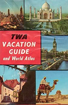 Hardcover TWA Vacation Guide and World Atlas (1966) Book