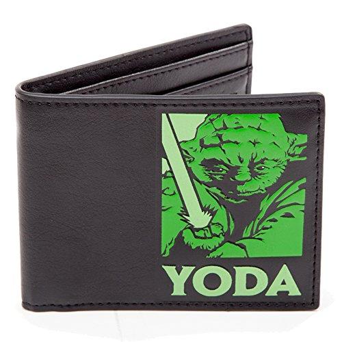 Star Wars Master Yoda Porte-Monnaie 2 Volets Noir 12 cm