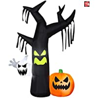 Gemmy Industries Yard Inflatables Ghostly Tree Scene 7 ft.