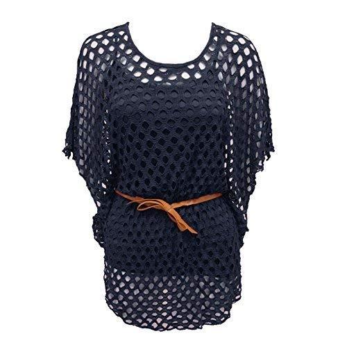 RIDDLEDWITHSTYLE Nieuwe Laatste Dames Vrouwen Plus Size BAT Wing Sleeve Gehaakte Riem TIE MESH Vest TOP