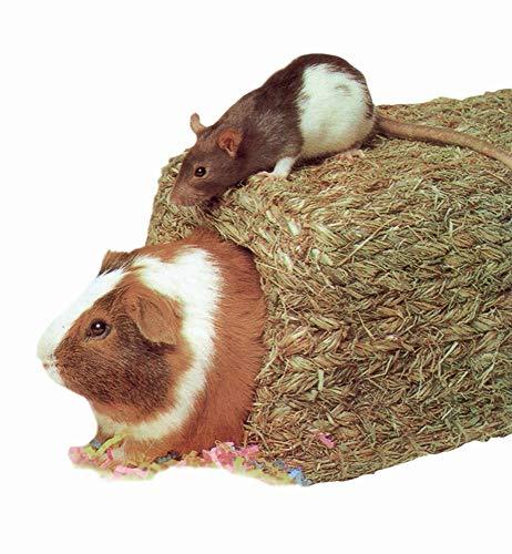 Elmato XXL Grashaus für Kaninchen, Hasen, Meerschweinchen, Hamster und andere Kleintiere - 45x25x23 cm Futter Heuhaus als Unterschlupf - XL Kaninchenhaus - Tolles Haustier Zubehör