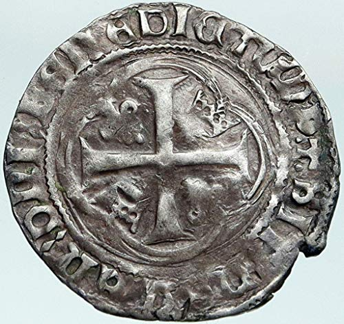 1000 FR 1461AD FRANCE KING LOUIS XI the Prudent Cross AR coin Good Uncertified