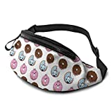 XCNGG Bolso de Cintura Corriente Bolso de Cintura de Ocio Bolso de Cintura Bolso de Cintura de Moda Casual Waist Bag Wheat Pink Donut For Men Women Running Travel Fashionable Fanny Pack