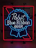 Super Bright! New Pabst Blue Ribbon Sign Handcrafted Real Glass Neon Light Sign Home Beer Bar Pub Recreation Room Game Room Windows Garage Wall Sign