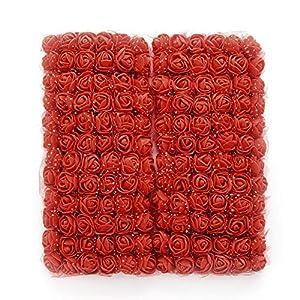 MENGZHEN 144 UNIDS Flores Artificiales Flores Falsas PE Rosa Espuma Mini Flor Bouquet Flor de la Boda Decoración del…