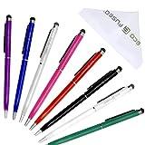 Eco-Fused 2in1 Universal-Stylus und Kugelschreiber - 8er-Pack - Kompatibel mit allen kapazitiven Touchscreen-Geräten - Für iPad, iPhone, Samsung-Telefone und -Tablets, alle Android-Telefone und -Tablets und mehr