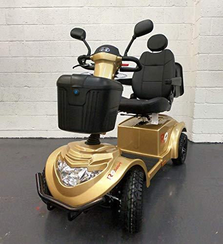 R9 Mobility Scooter – Heavy Duty (39+ capacidad de piedra) – Gran alcance (más de 35 millas) – Crown Jewel en la serie 'R' Mobility Scooter (dorado)