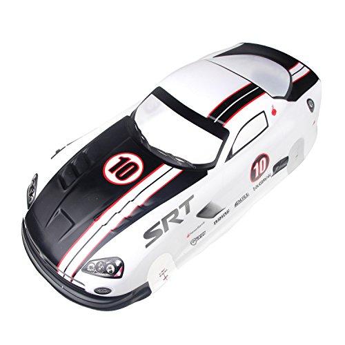 Coolplay 1/10 PVC On Road Drift Car Body Shell RC Racing Accessories SRT10 ACR-X (White)