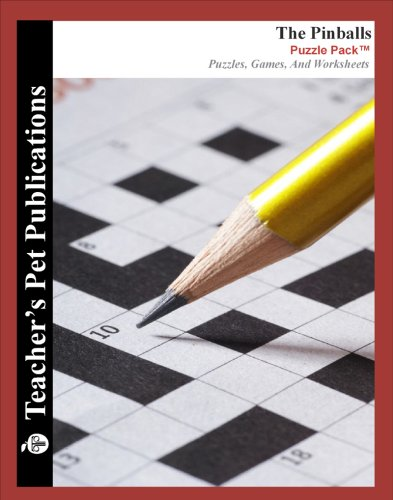 The Pinballs Puzzle Pack - Teacher Lesson Plans, Activities, Crossword Puzzles, Word Searches, Games, and Worksheets (PDF on CD)