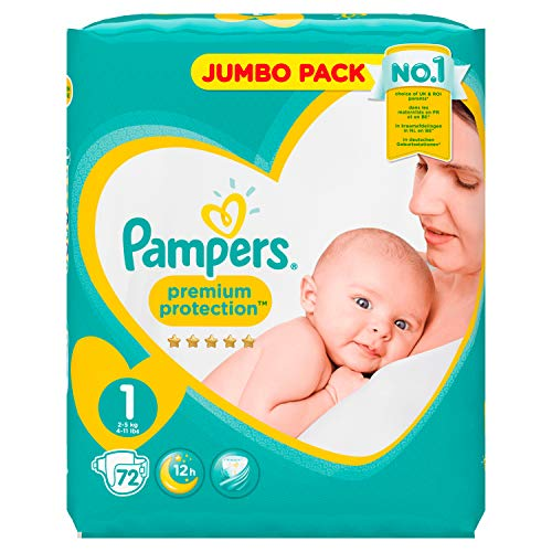 PAMPERS New Baby Taille 1 - 2 a 5 kg - 72 couches