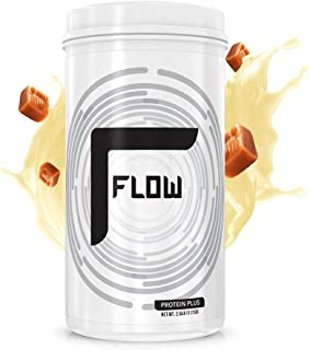 Flow Supplements by Zachary Levi | Protein Plus Plant Based Pumpkin Watermelon Seed Pea Protein AMINO9 | Zero Soy Gluten Dairy Sugar | Natural Flavors, 2.6 Pound (Salted Vanilla Caramel)