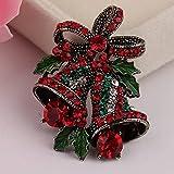 N\C Weihnachtsanzug Pin, Kreative Geschenkschleife, High-End-Corsage, Retro Bell Weihnachtsbrosche