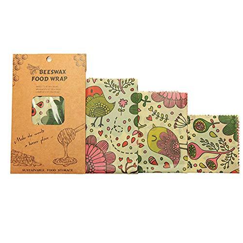 3PCS Herbruikbare Storage Wrap Duurzame Organische Sandwich & Cheese Eten inpakpapier bijenwas Voedsel Wrap,B