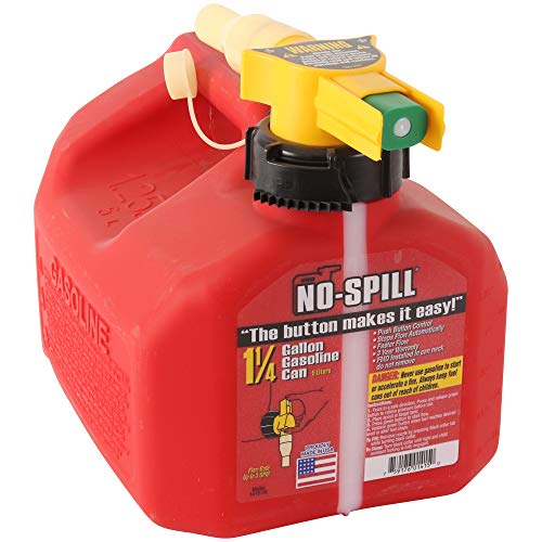 Our #1 Pick is the No-Spill 1415 1-1/4-Gallon Poly Gas Can