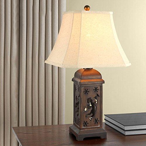 Bonne chose lampe de table Style européen Retro Children Table Lamp Chambre Salle d'étude Décoration de salon Hollow Angel Carved Hand Lamp