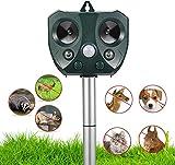 Ultrasonic Animal Repellent Outdoor,Solar Powered Waterproof Animal Repeller with Motion Sensor,...