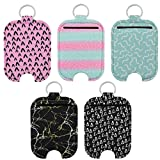 Beautyflier Hand Sanitizer Holder-Travel Size Hand Sanitizer Sleeves Keychain Holder, Attaches Easily to Your Backpack, Purse, Tote bag, Diaper Bag (60ML, Geometric)