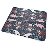 Voxpkrs Cute Dinosaurs Animal Dino Cartoon Baby Crib Pee Diaper Changing Pad Mattress Protector for Toddler Kids Infant