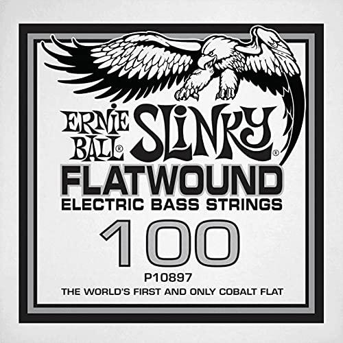 Ernie Ball 10897–Corda basso al dettaglio Slinky Flatwound–filé piatto Cobalto 100