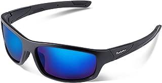 Polarized Sports Sunglasses for Men Women Baseball Running Cycling Fishing Driving Golf Softball Hiking Sunglasses Unbreakable Frame Du645