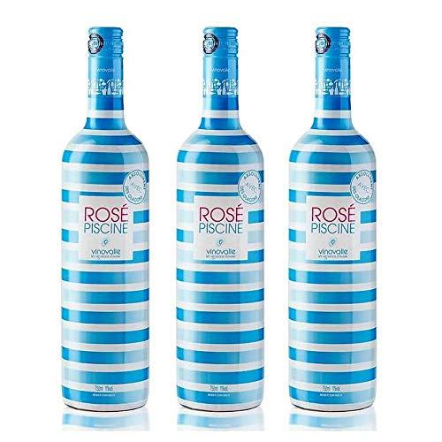 Caixa com 3 Vinhos Rosé Francês Rosé Piscine Stripes 750ml