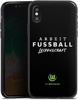 DeinDesign Silikon Hülle kompatibel mit Apple iPhone X Case schwarz Handyhülle VFL Wolfsburg Offizielles Lizenzprodukt Statement