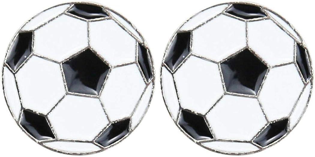 AnaPin Football Brooch Pin 2 Pcs Set Enamel Pins Lapel Badges