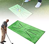Golf Training Mat Feedback, Golf Training Mat for Swing Detection Batting, Golf Mat for Backyard Putting, Mini Golf Practice Training Aid, for Protect Grass, Analysis & Correct Your Swing Path