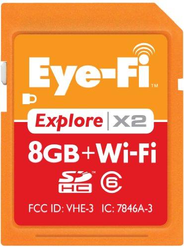 Eye-Fi Explore X2 8 GB Class 6 SDHC Wireless Photo & Memory Uploads EYE-FI-8EX
