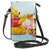Bolsos cruzados para mujer - Tigger Piglet y Winnie The Pooh Pequeño monedero para teléfono celular con ranuras para tarjetas de crédito