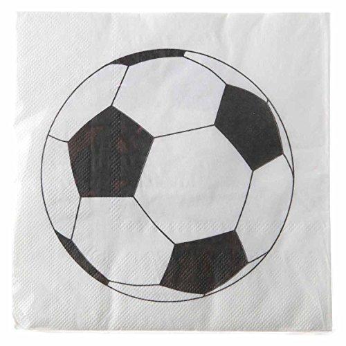 Generique - 20 Serviettes en Papier Ballon Football 33 x 33 cm