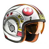 Casco de moto HJC FG-70s X-WING FIGHTER PILOT MC1F, Blanco/Rojo/Amarillo, L