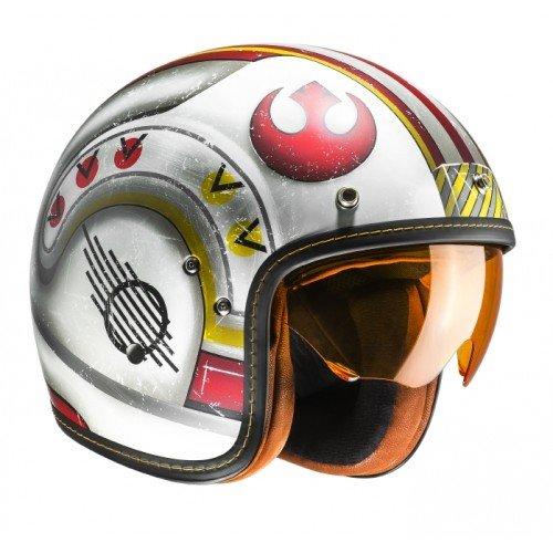 Casco de moto HJC FG-70s X-WING FIGHTER PILOT MC1F, Blanco/