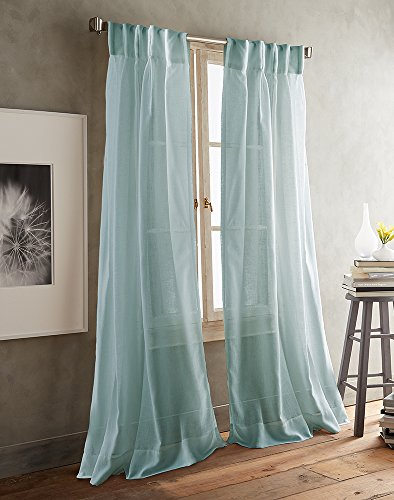 DKNY Paradox Inverted Pleat Sheer Window Curtain Panel Pair