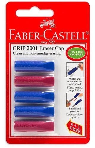 Faber Castell Grip 2001Radierer-Kappen für Bleistifte, 5 Stück