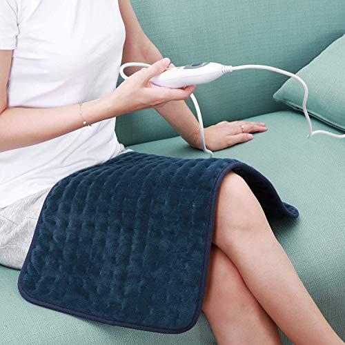 Heizkissen mit abschaltautomatik Wärmekissen Elektrisch 30 * 60cm für Rücken Nacken Schulter Bauch Beine Muskelverspannung 6 stufige Temperaturstufen Schnell