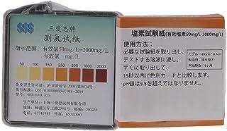 EEX 残留塩素試験紙 pH試験紙 50-2000mg / L 色チャート付き 素早く測定【4メートル/ロール】