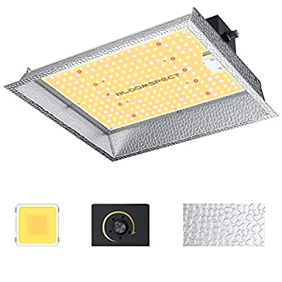 BLOOMSPECT SL600 LED Grow Light, Full Spectrum Dimmable LED Plant Growing Lamps with SMD LEDs & Reflector for Indoor Plants Veg & Bloom, 2x2 ft Coverage