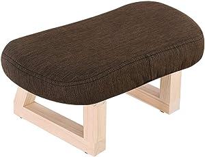 Massivholz-Schemel-Osmanen-und Hocker-kreativer gepolsterter Schemel/Footrest-Änderungs-Schuh-Bank für Erwachsene und Kinder (Farbe : Brown)
